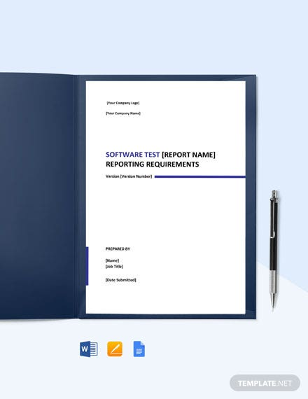 Reporting Requirements Template