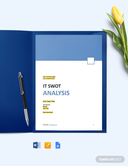 Free Minimal IT Swot Analysis Template