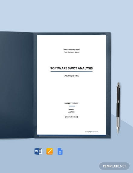 Free Printable Software Swot Analysis Template