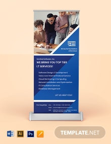 IT Solutions Roll Up Banner Template