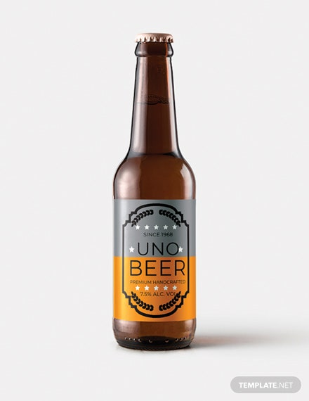 Free Beer Product Label Template