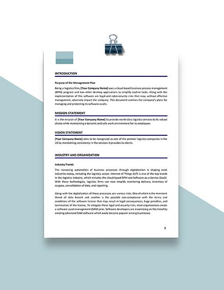 Software Asset Management Sample