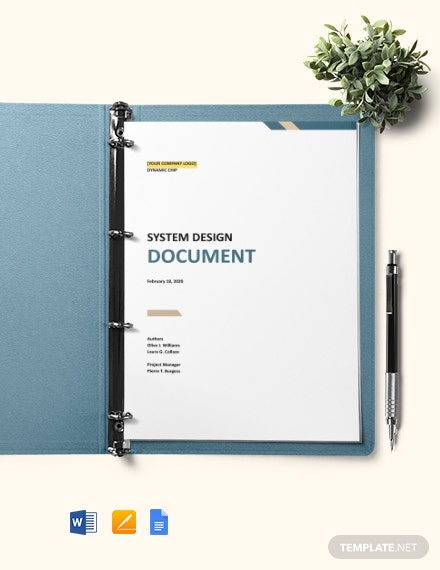 System Design Document Template