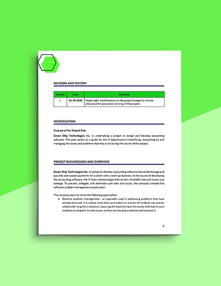 Software Problem Management Template Download