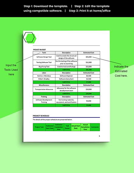 Software Problem Management Template Printable