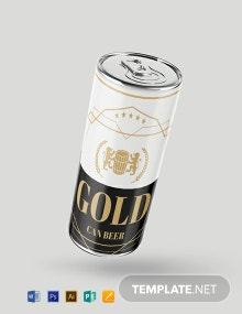 Free Beer Can Label Template