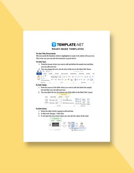 IT Incident Management Template instruction