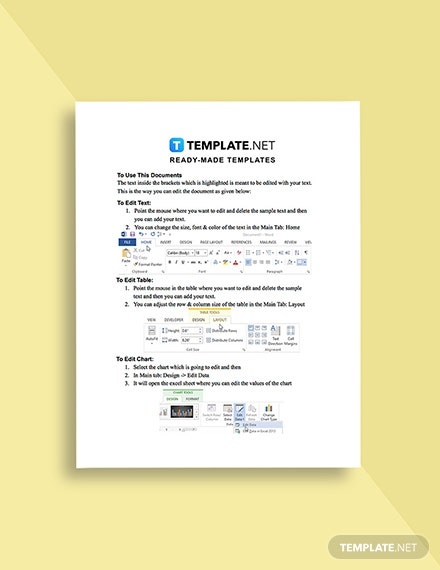 Quality Management Template Format