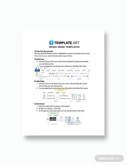 IT Service Charter Template Format