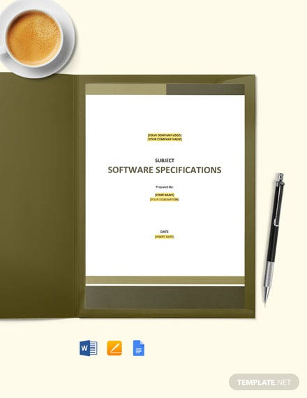 Free Software Requirements Template