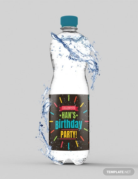 Free Birthday Water Bottle Label Template