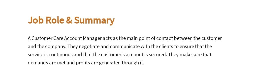 Free Customer Care Account Manager Job Ad/Description Template 2.jpe