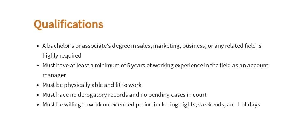 Free Customer Care Account Manager Job Ad/Description Template 5.jpe
