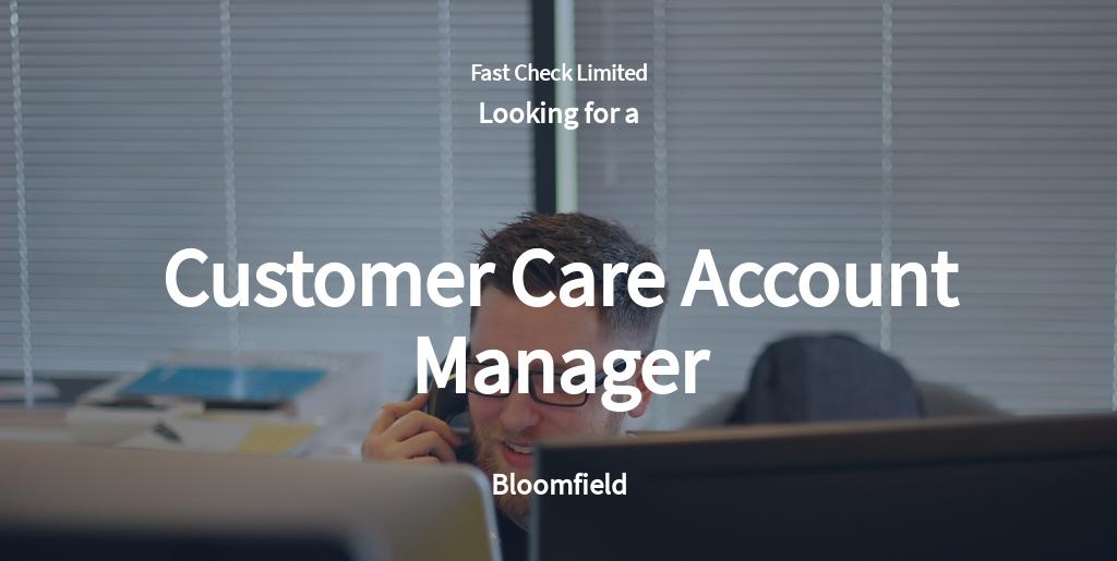 Free Customer Care Account Manager Job Ad/Description Template.jpe