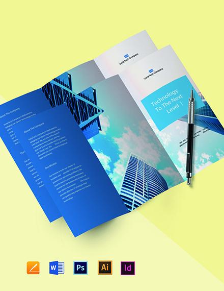 Free Tri-Fold Modern IT Brochure Template