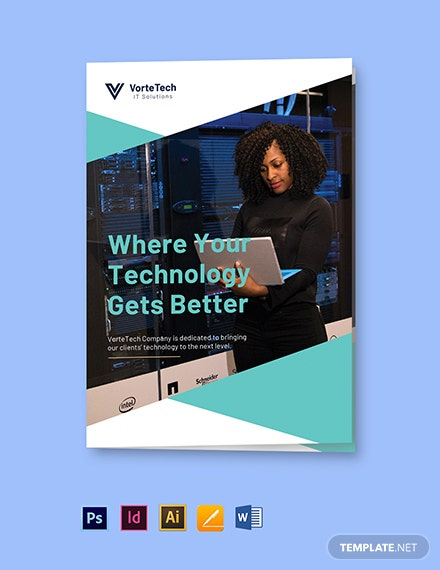 Free Bi-Fold Modern IT Brochure Template