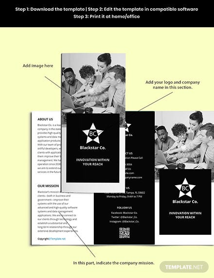 Free Trifold Creative Software Brochure Template Download