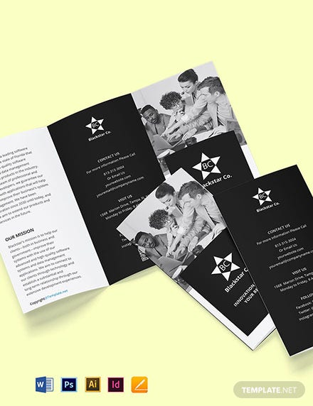 Free Tri-Fold Creative Software Brochure Template