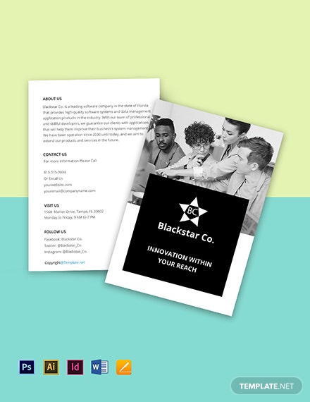 Free Creative Software Bifold Brochure Template