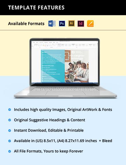 Free BiFold Elegant IT Brochure Editable