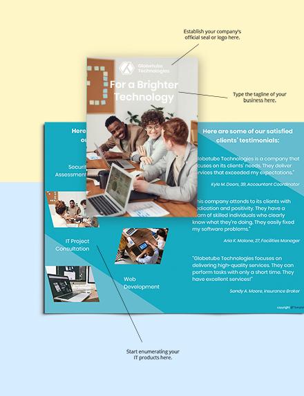 Free Bifold Elegant IT Brochure Format