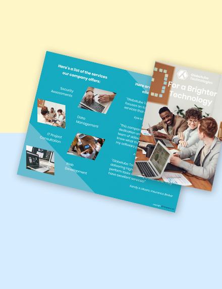 Free Bifold Elegant IT Brochure Sample