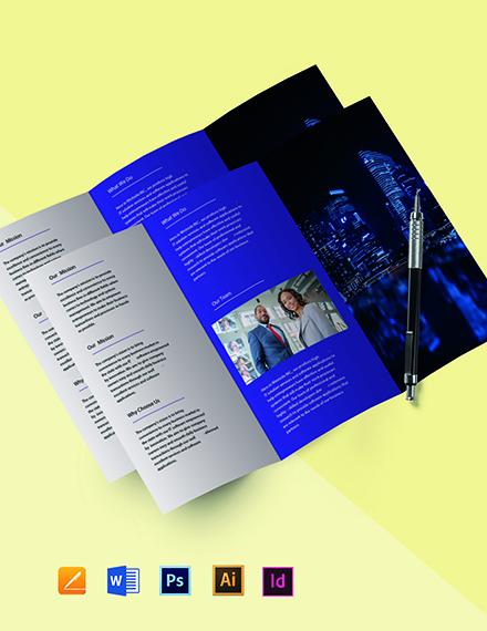 Free Tri-Fold Simple IT Brochure Template