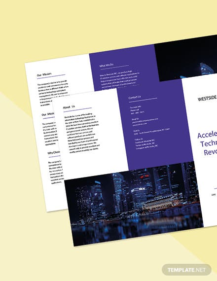 Free Trifold Simple IT Brochure Template