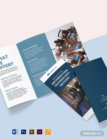 Trifold Software Company Brochure Template
