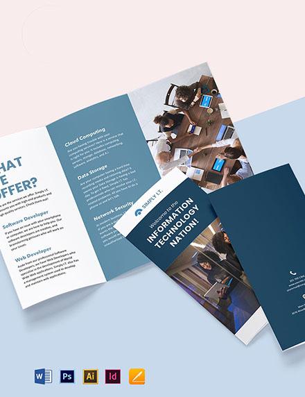Tri-Fold Software Company Brochure Template