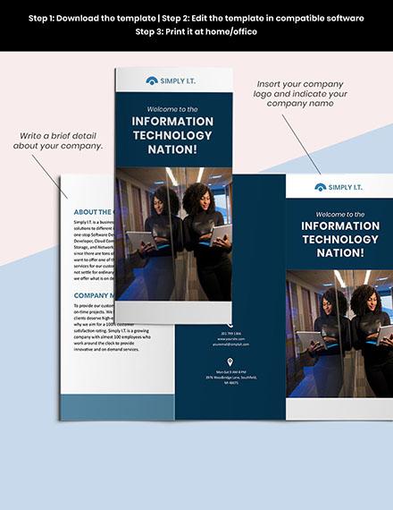 Trifold Software Company Brochure editable