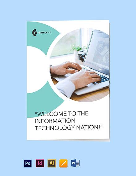 Bi-Fold Software Company Brochure Template