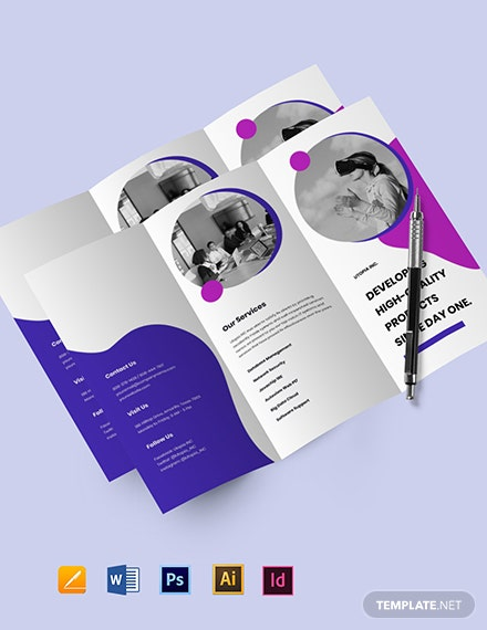 Tri-Fold IT Product Brochure Template