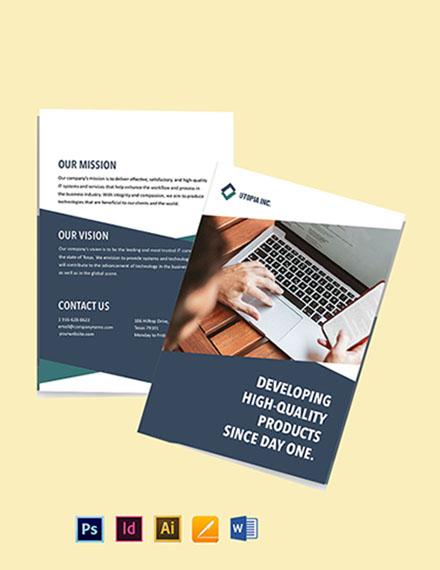 Bi-Fold IT Product Brochure Template