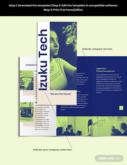 Trifold IT Business Brochure Sample