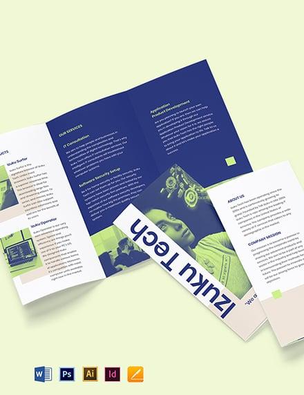 Tri-Fold IT Business Brochure Template