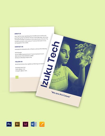 Bi-Fold IT Business Brochure Template