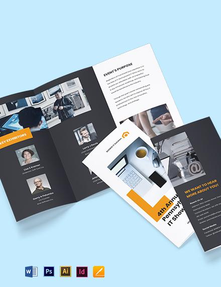 Tri-Fold IT Show Brochure Template