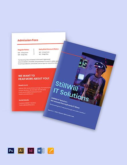 Bi-Fold IT Show Brochure Template