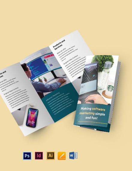 Trifold Software Marketing Brochure