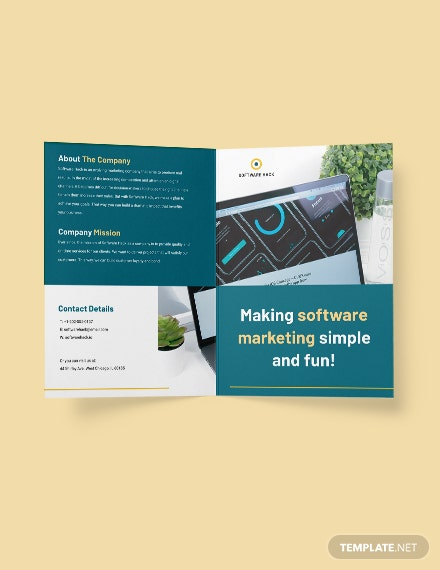 Bifold Software Marketing Brochure Template