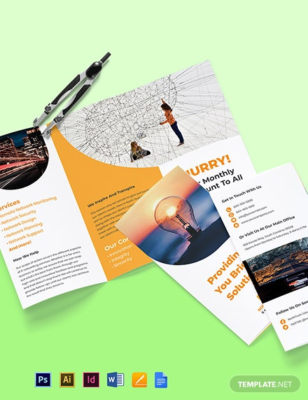 Tri-Fold Networking Brochure Template