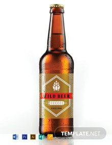 Free Blank Beer Label Template
