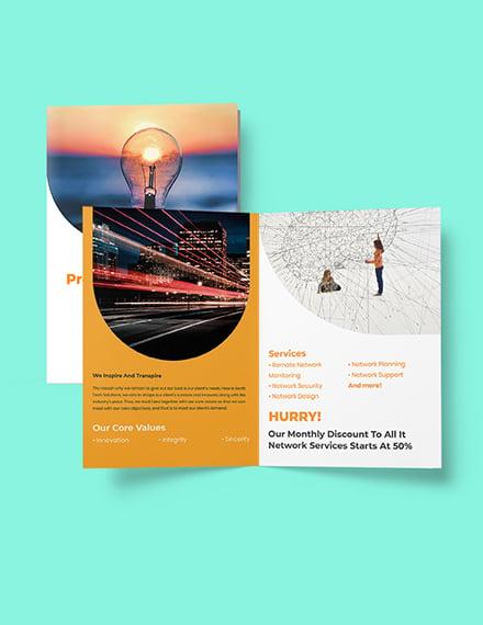 Bifold Networking Brochure Template Format