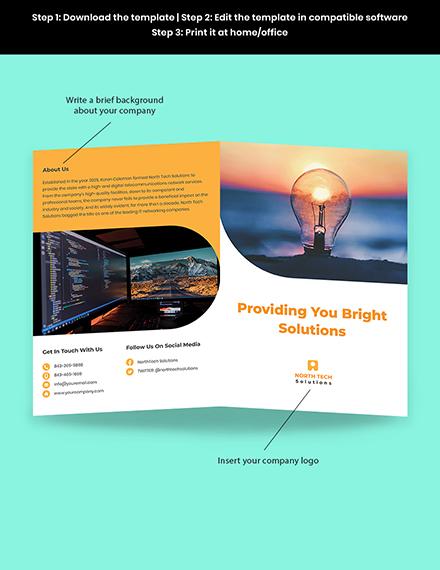 Bifold Networking Brochure Template Sample