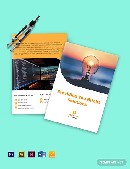 Bi-Fold Networking Brochure Template