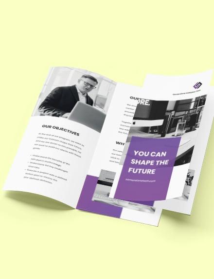 Trifold IT Training Brochure Format