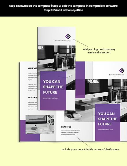 Trifold IT Training Brochure Sample