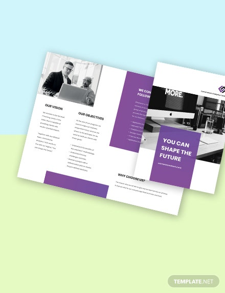 Bifold IT Training Brochure Format