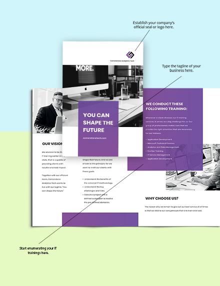 Bifold IT Training Brochure Sample